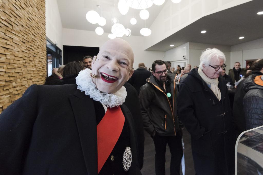 Inauguration du LUDyLAB à Chambretaud en Vendée : Accueil des passagers par Calixte de Nigremont