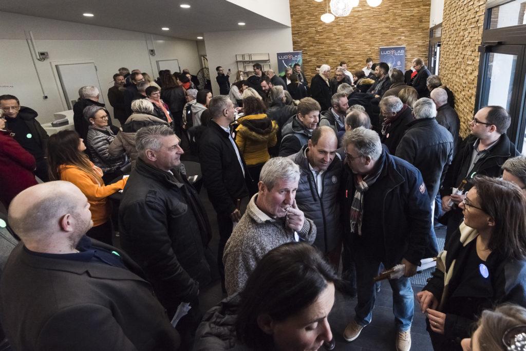 Inauguration du LUDyLAB à Chambretaud en Vendée : accueil des passagers dans le Hall