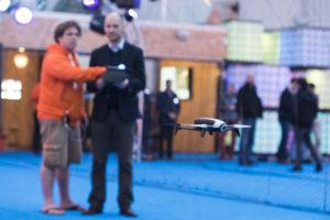 Inauguration du LUDyLAB à Chambretaud en Vendée : initiation pilotage drone indoor avec le pilote Pablo Sotes