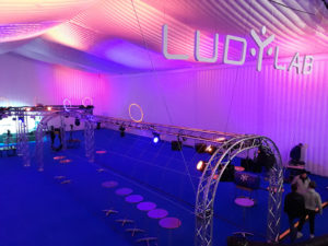 Inauguration du LUDyLAB à Chambretaud en Vendée : drone indoor