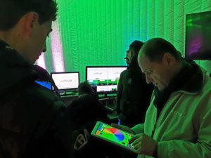 Inauguration du LUDyLAB à Chambretaud en Vendée : tests lumières sur tablette