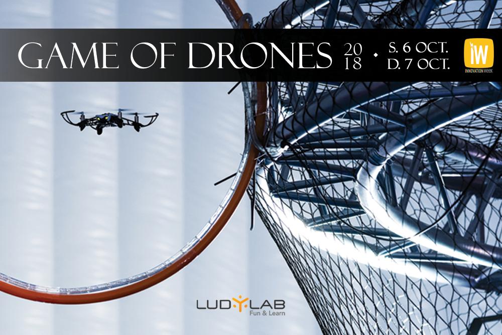Bannière Game of Drones 2018 au LUDyLAB à Chambreatud à 5 minutes du Puy du Fou en Vendée