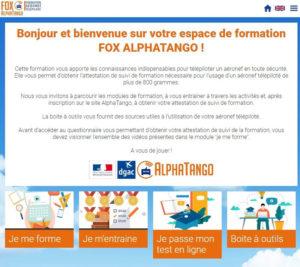 Plateforme Fox AlphaTango - Accueil
